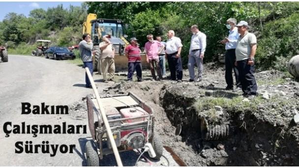 Belediyeden Su İsale Hatlarına Bakım Çalışması