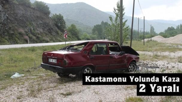 Kastamonu Yolunda Otomobil Takla Attı, 2 Yaralı