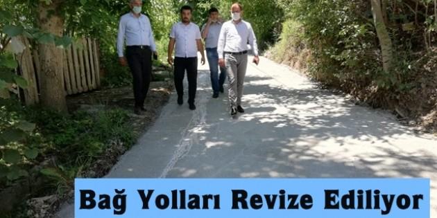 Tosya Belediyesi Bağ Yollarını Revize Ediyor