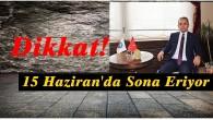 Tosya'da kısıtlamalar 15 Haziran'da sona eriyor