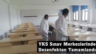Tosya'da sınav merkezleri dezenfekte edildi