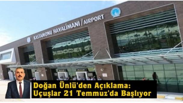Ak Parti Kastamonu İl Başkanı Doğan Ünlü'den Havalimanı Açıklaması…