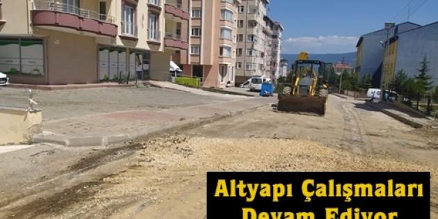 Tosya Belediyesi Altyapı Çalışmalarına Devam Ediyor