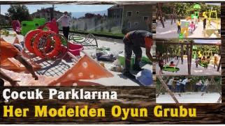 Tosya Belediyesinden Parklara Farklı Modellerde Oyun Grupları