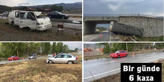 Tosya'da bir günde 6 kaza