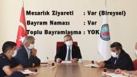 Tosya'da korona virüse karşı bayram tatilinde tedbirler artırıldı