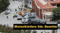 Tosya'da polisten motosikletçilere sıkı denetim