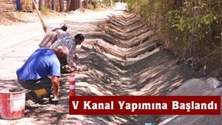 Üçoluklar Mevkiinde V Kanal Yapımına Başlandı