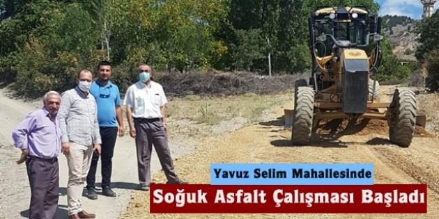 Belediyeden Yavuz Selim Mahallesinde Asfalt Çalışması