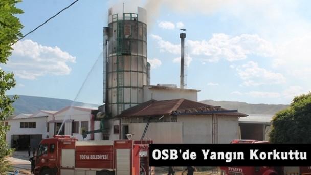 Tosya OSB'de talaş silosu patladı