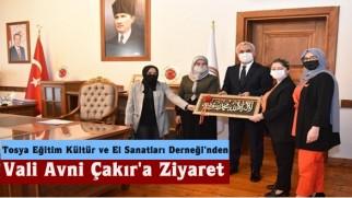 Tosya Eğitim Kültür ve El Sanatları Derneği'nden Vali Avni Çakır'a Ziyaret