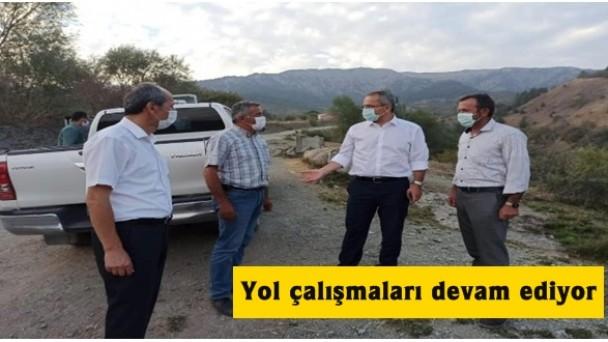 Tosya'da yol çalışmaları devam ediyor