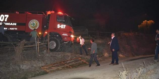 Yangının önüne Tosya ekibi geçti