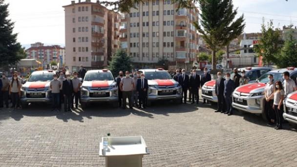 Tosya Orman İşletme Müdürlüğüne 7 araç alındı