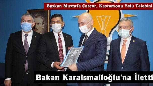 Başkan Mustafa Corcor, Tosya-Kastamonu Yolu Dosyasını Bakana Sundu