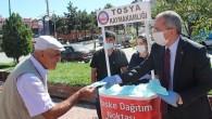 Tosya Kaymakamlığı 50 bin adet maske dağıttı