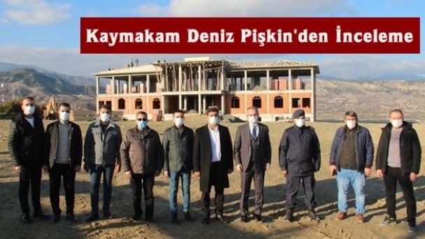 Kaymakam Deniz Pişkin'den jandarma binasında inceleme