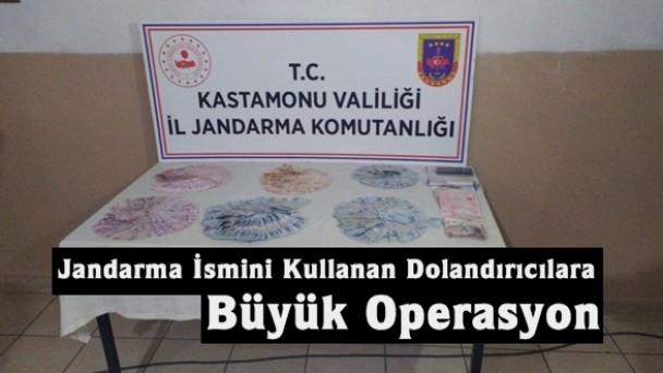 Tosya'da jandarmanın ismini kullanan dolandırıcılar jandarma tarafından yakalandı