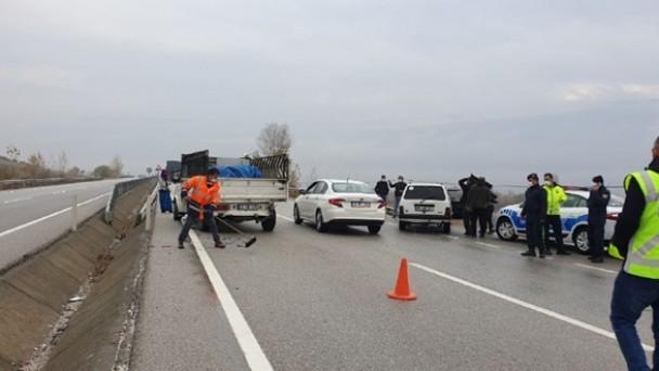 Tosya'da OSB karşısında kaza