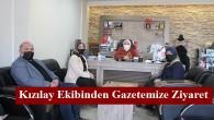 Kızılay Ekibinden Gazetemize Ziyaret