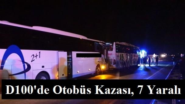 Tosya'da otobüs kazası, 7 yaralı