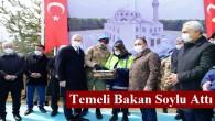 Bakan Soylu, askeriye içerisine yapılacak caminin temelini attı