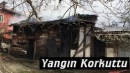 Tosya'da ahşap ev yandı