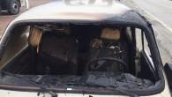 Tosya'da otomobil yandı