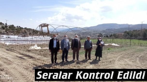 Tosya'da Seralar Kontrol Edildi