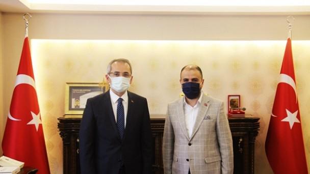 Gazeteciler Cemiyetinden Kaymakam Deniz Pişkin'e ziyaret