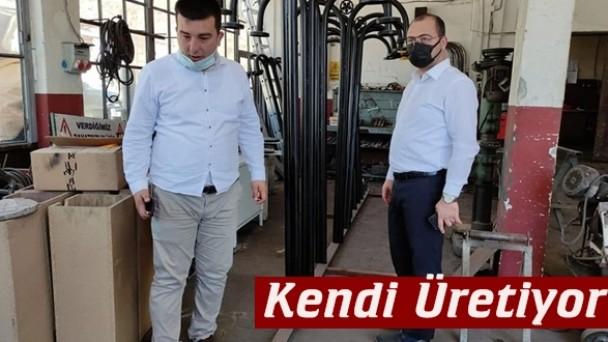Tosya Belediyesi kent mobilyalarını üretiyor