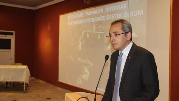 """Tosya'da """"Köy Evleri Elektrik İç Tesisatı Yenileme Projesi"""" bilgilendirme toplantısı düzenlendi"""