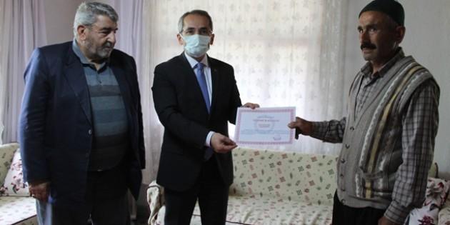 Tosya'da kendini doğaya adayan vatandaşa ödül