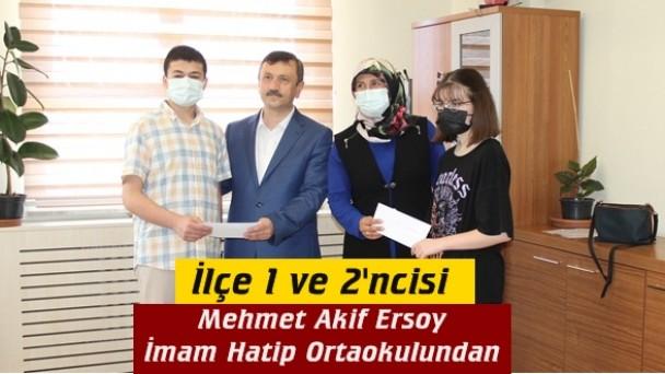 LGS'de ilçe 1 ve 2'ncisi Tosya Mehmet Akif Ersoy İmam Hatip Ortaokulu'ndan
