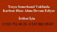 Tosya Semerkand Vakfı Kurban Hisse Kayıtları Devam Ediyor