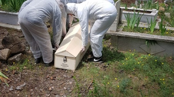 Tosya'da keneden ölen vatandaş toprağa verildi