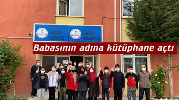 Tosya'da Kişisel gelişim uzmanından vefat eden babasının adına kütüphane