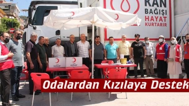 Tosya'da meslek odalarından kan bağışına destek