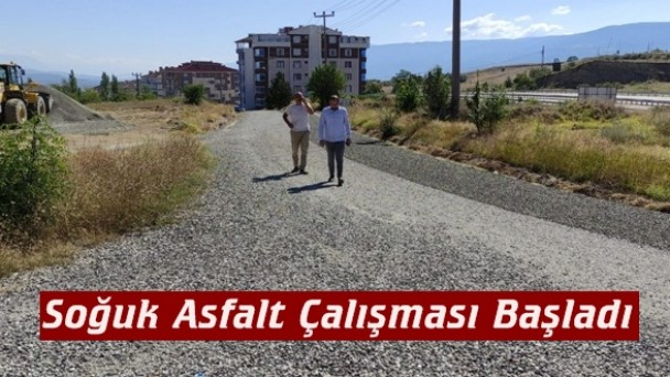Tosya Belediyesi;  Soğuk Asfalt Çalışmalarına Başladı