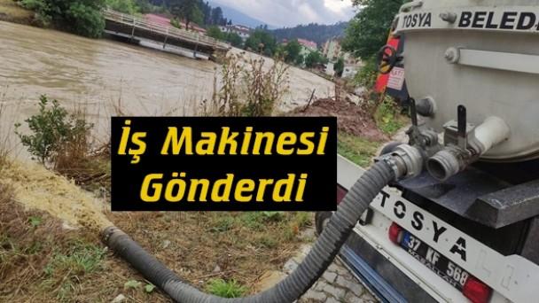 Tosya Belediyesinden Afet Bölgesine Yardım