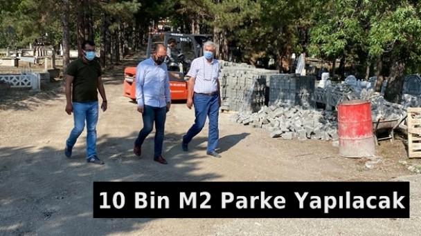 Tosya Şehir Mezarlığı'na 10 Bin M2 Parke
