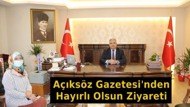 Açıksöz Gazetesi'nden Kaymakam Ahmet Ferhat Özen'e Hayırlı Olsun Ziyareti