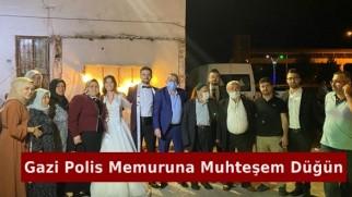 Gazi Polis Memuruna Muhteşem Düğün