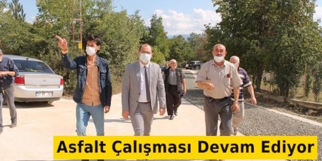 Tosya Belediyesi Karşıyaka ve Kuzyaka Mahallelerinde Asfalt Çalışması Yaptı
