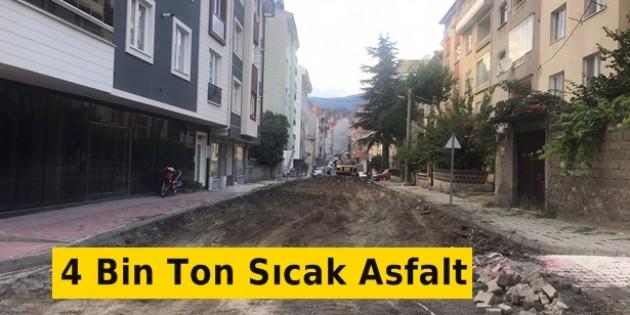 Tosya Belediyesinden 4 Bin Ton Sıcak Asfalt