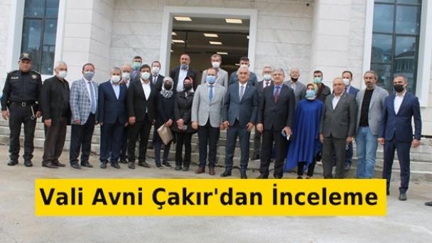 Vali Avni Çakır'dan Hükümet Konağı'nda İnceleme