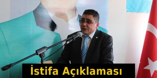 İYİ Parti Tosya İlçe Başkanı Ali Orhan Kıral'dan İstifa Açıklaması