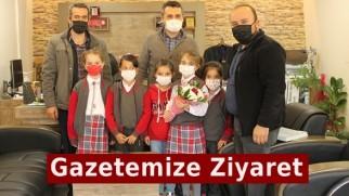 Şehit Murat Çökmez İlkokulu'ndan Gazetemize Ziyaret