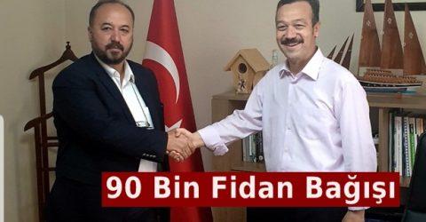Konüder'den 90 Bin Adet Fidan Bağışı